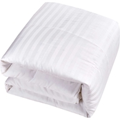 Blue Ridge 500 Thread Count Damask Stripe Cover, Siberian Down All Season Comforter