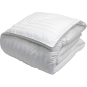 Blue Ridge 350 Thread Count Damask Stripe Cotton Cover, Down-Alternative Comforter