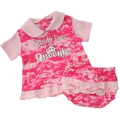 Trooper Clothing Infant Girls Air Force Camo 2 Pc. Dress Set