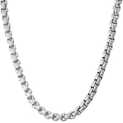 Black & Blue Steel And Diamond 24 In. Square Chain