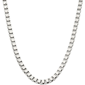 Black & Blue Steel And Diamond 24 In. Box Chain