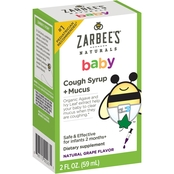 Zarbee's Naturals Baby Cough + Mucus Syrup, Grape Flavor
