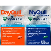 Vicks NyQuil/DayQuil Severe Cold and Flu Caplet 48 Pk.