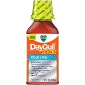 Vicks DayQuil Severe Cold and Flu Relief Liquid 12 Oz.