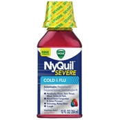 Vicks NyQuil Severe Cold and Flu Nighttime Relief Liquid 12 Oz.