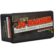 Magnum Research Ammunition .50 Action Express 350 Gr. Jacketed Soft Point, 20 Rd.