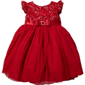 Princess Faith Infant Girls Lace and Tulle Dress