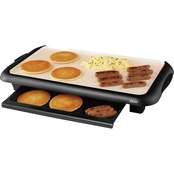 Oster DuraCeramic 10 in. x 18.5 in. Griddle with Warming Tray