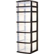 Homz Plastic Cart with 6 Drawers