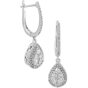 Love Honor Cherish 10K White Gold 3/4 CTW Diamond Earrings
