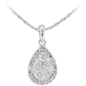 Love Honor Cherish 10K White Gold 3/4 CTW Diamond Pendant