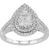 Love Honor Cherish 10K White Gold 3/4 CTW Diamond Ring