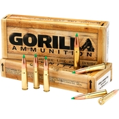 Gorilla Match .300 AAC Blackout 220 Gr. Boat Tail Hollow Point Subsonic, 20 Rounds