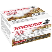 Winchester 22LR Bulk Pack, 36 Gr. Copper HP 222 Rnd