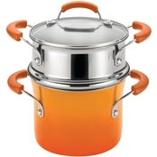 Rachael Ray 3 Quart Covered Saucepot with Steamer