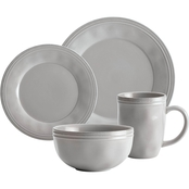 Rachael Ray Cucina 16 Pc. Stoneware Dinnerware Set Agave Blue