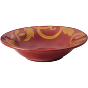 Rachael Ray Gold Scroll Serving Bowl