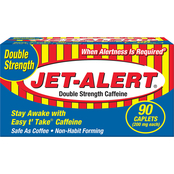 Jet Alert Double Strength 200 mg Caplets 90 ct.