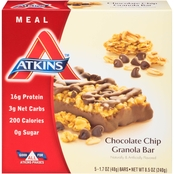 Atkins Advantage Chocolate Chip Granola Meal Bar 5 pk.