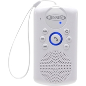 Jensen Water Resistant Shower Bluetooth Hands Free Speaker