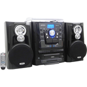 Jensen Bluetooth 3 Speed Stereo Turntable Music System