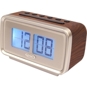 Jensen Display AM/FM Dual Alarm Clock with Digital Retro Flip Display