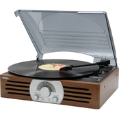 Jensen 3 Speed Stereo Turntable with AM/FM Stereo Radio and Built In Speakers