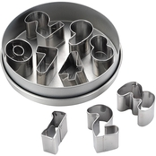 Cake Boss Stainless Steel 9 pc. Number Fondant and Cookie Cutter Set