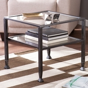 SEI Metal/Glass Bunching Cocktail Table