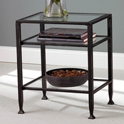 SEI Metal End Table