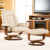 SEI Bonded Leather Recliner and Ottoman