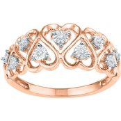 10K Rose Gold Diamond Accent Ring