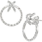 Diamond Fascination Platinum over Sterling Silver Diamond Accent Earrings
