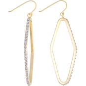 Diamond Fascination 18K Yellow Gold over Sterling Silver Diamond Accent Earrings