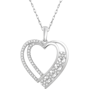 10K Gold 1/4 CTW Diamond Heart Pendant