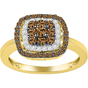 10K Gold 1/2 CTW Enhanced Champagne Diamond Ring