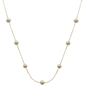 Imperial 14K Gold Plated Sterling Silver Brilliance Bead Pearl Chain Necklace