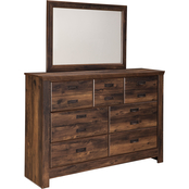 Ashley Quinden Dresser and Mirror