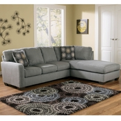 Signature Design by Ashley Zella 2 pc. Sectional RAF Corner Chaise/LAF Sofa