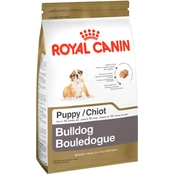 Royal Canin Breed Health Nutrition Bulldog Puppy Dog Food, 30 lb.