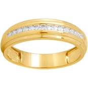 Expressions of Love 10K Yellow Gold 1/10 CTW Diamond Ring, Size 10.5