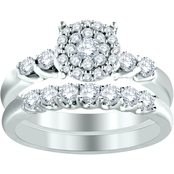 14K White Gold Endless Fantasy 1 CTW Diamond Bridal Set