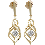 10K Gold 1/10 CTW Diamond Earrings