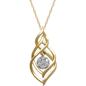10K Gold 1/10 CTW Diamond Necklace