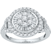 10K White Gold 1 ct. TDW Diamond Ring