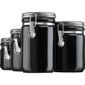 Anchor Hocking 4 Pc. Ceramic Clamp Top Canister Set