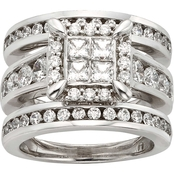 10K White Gold 2 1/2 CTW Diamond Bridal Set