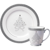 Noritake Crestwood Platinum 4 pc. Holiday Accent Plate Set