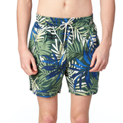 Caribbean Joe Swimwear Leafy Tropical Trunks
