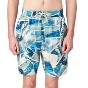 Caribbean Joe Swimwear Postcards Trunks